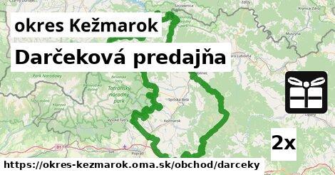 ilustračný obrázok k Darčeková predajňa, okres Kežmarok