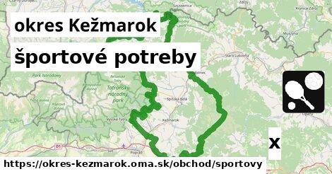 ilustračný obrázok k športové potreby, okres Kežmarok