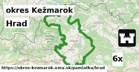 hrad v okres Kežmarok