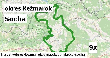 socha v okres Kežmarok