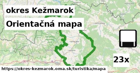 ilustračný obrázok k Orientačná mapa, okres Kežmarok