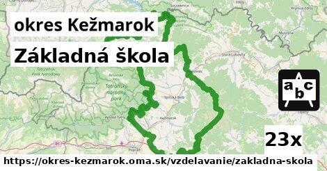 ilustračný obrázok k Základná škola, okres Kežmarok