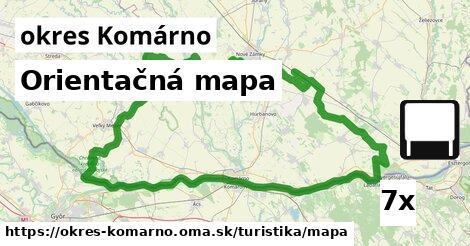 orientačná mapa v okres Komárno