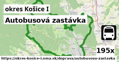 autobusová zastávka v okres Košice I