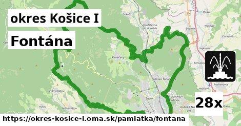 fontána v okres Košice I