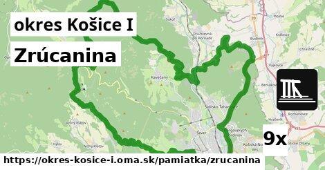 zrúcanina v okres Košice I
