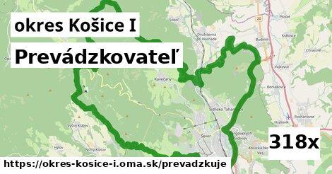 prevádzkovateľ v okres Košice I