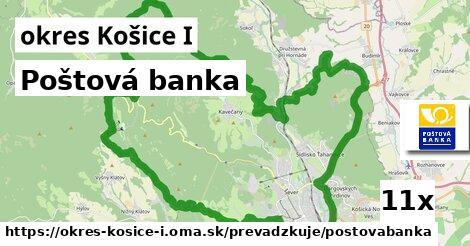 Poštová banka v okres Košice I
