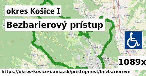 bezbarierový prístup v okres Košice I