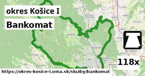 bankomat v okres Košice I