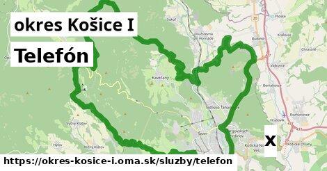 telefón v okres Košice I