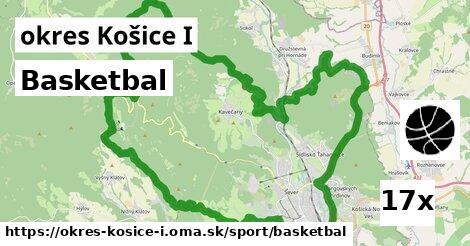 ilustračný obrázok k Basketbal, okres Košice I