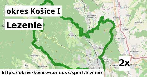 lezenie v okres Košice I