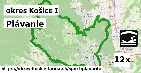 plávanie v okres Košice I