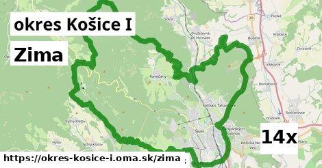 zima v okres Košice I
