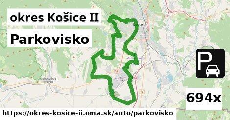 parkovisko v okres Košice II