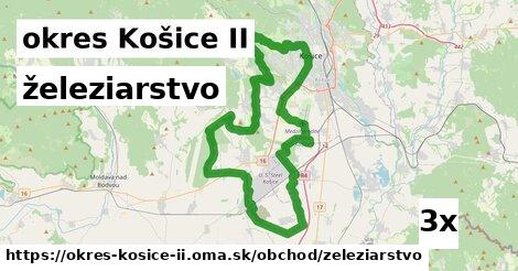 železiarstvo v okres Košice II