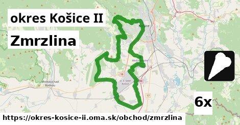 zmrzlina v okres Košice II