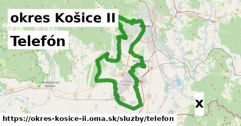 telefón v okres Košice II