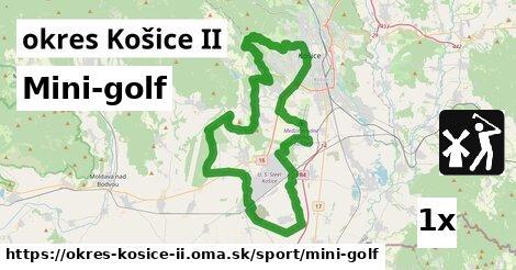 mini-golf v okres Košice II