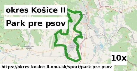 park pre psov v okres Košice II
