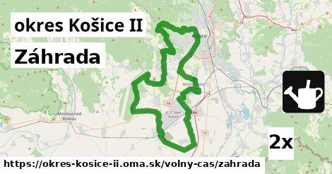 záhrada v okres Košice II