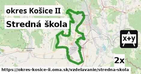 stredná škola v okres Košice II