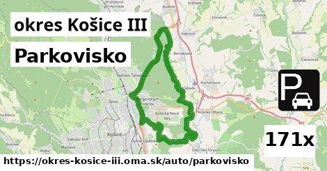ilustračný obrázok k Parkovisko, okres Košice III