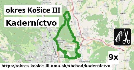 ilustračný obrázok k Kaderníctvo, okres Košice III