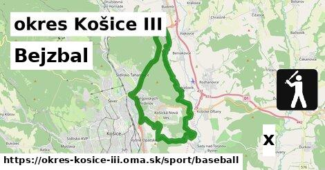 ilustračný obrázok k Bejzbal, okres Košice III