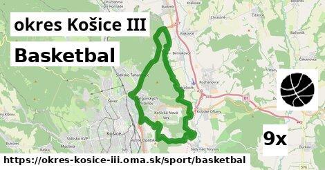 ilustračný obrázok k Basketbal, okres Košice III
