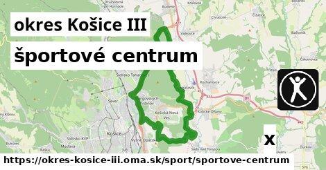 ilustračný obrázok k športové centrum, okres Košice III