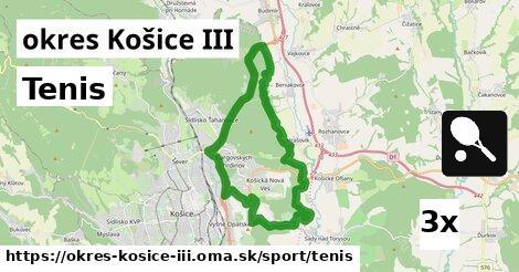 ilustračný obrázok k Tenis, okres Košice III