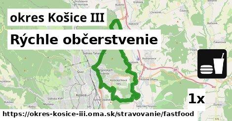 ilustračný obrázok k Rýchle občerstvenie, okres Košice III