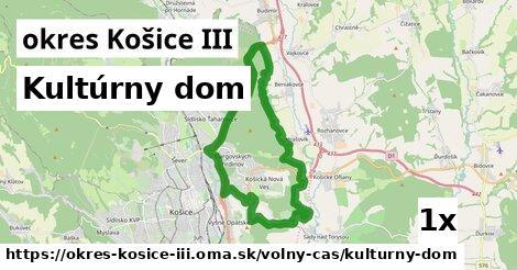 ilustračný obrázok k Kultúrny dom, okres Košice III