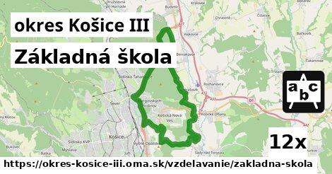 ilustračný obrázok k Základná škola, okres Košice III
