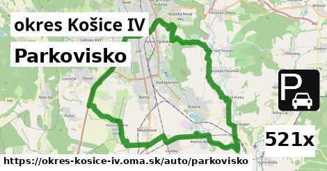 parkovisko v okres Košice IV