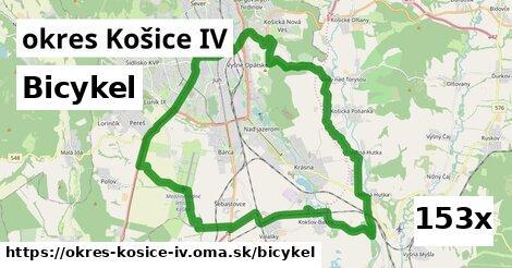 bicykel v okres Košice IV
