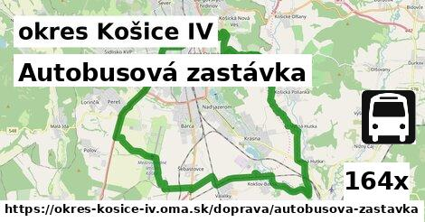 autobusová zastávka v okres Košice IV