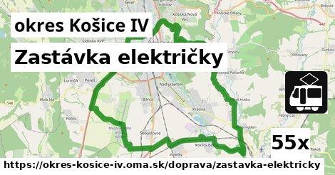 zastávka električky v okres Košice IV