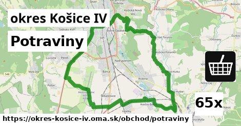 potraviny v okres Košice IV