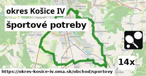 športové potreby v okres Košice IV