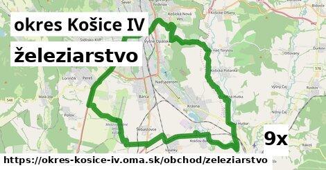 železiarstvo v okres Košice IV