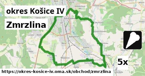zmrzlina v okres Košice IV