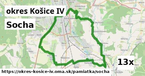 socha v okres Košice IV