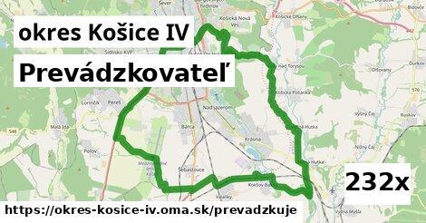 prevádzkovateľ v okres Košice IV