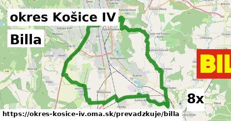 Billa v okres Košice IV
