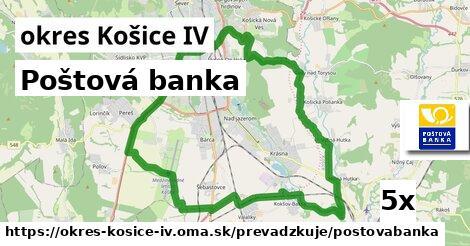 Poštová banka v okres Košice IV