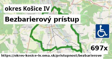 bezbarierový prístup v okres Košice IV