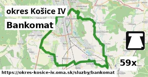 bankomat v okres Košice IV